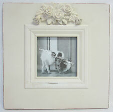 25cm New French Provincial Country Wooden Photo Frame with Ornate Carved Roses