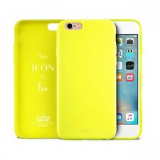 COVER CUSTODIA ICON PURO GIALLO FLUO FUN IPHONE 6 6S PURO NUOVA