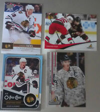 4 DIFF Jonathan Toews Cards 2010-11 & 2011-12 Pinnacle, 11-12 OPC, 2012-13 UD