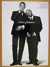 1995 Stefano Gabbana & Domenico Dolce photo by Michel Comte vintage print Ad