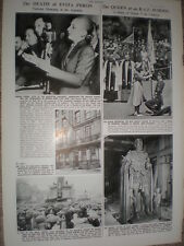 Photo article Death of Evita Peron Argentina 1952 refO50s