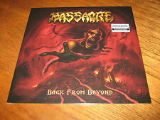 "MASSACRE ""Back From Beyond"" LP   death obituary mantas"