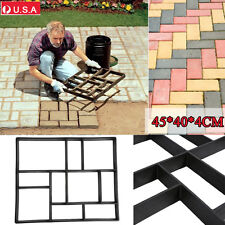 Plactic Pathmate Stone Paving Mold Concrete Stepping Walk Way Mould Paver 10Grid