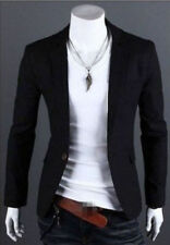 New Stylish Men's Casual Slim Fit One Button Suit Blazer Coat Jacket Tops XL
