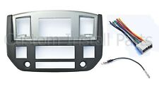 NEW 2006-06 Dodge Ram Radio Double Din Dash Install Bezel Kit Silver Slate Grey