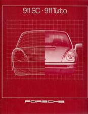 Porsche 911 1980-81 UK Market Sales Brochure 3.0 SC Coupe Targa 3.3 Turbo