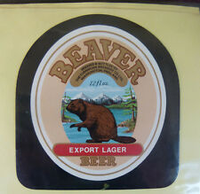 VINTAGE BRITISH BEER LABEL - CUMBRIAN BREWERY BEVER EXPORT LAGER