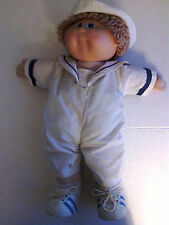 "Cabbage Patch Boy Doll Sailor Outfit  1982 Date 16"" Tall Blue Eyes Blonde Hair"