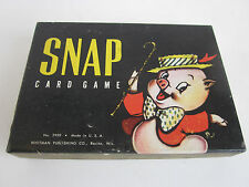 Vintage SNAP Card Game Deck Box Rules Whitman No 2999 pig dog sheep duck MINT