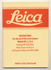 Leica Instructions Models M1,2,3 & 4 ristampa anastatica D538
