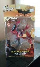 Batman Begins Battle Cape Batman Action Figure Power tek Mattel 2005 Brand New