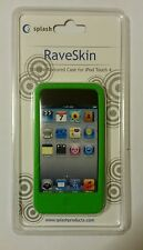 SPLASH RAVESKIN RUBBERIZED CASE FOR IPOD TOUCH 4 w/ screen protector film GREEN