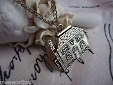 Retro vintage dolls house pendant locket and chain necklace