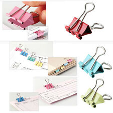 6Pcs Mixed Colorful Metal Paper File Receipt Binder Clips 32mm Office Supplies