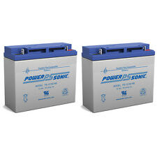 Power-Sonic 2 Pack - 12V 18AH Replacement Battery for Jump n Carry JNC660 JNCAIR