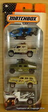 MATCHBOX 5-Pack MILITARY ARMY Vehicles Cars Tank Gift Set NEW!