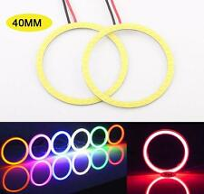 1 Pair Red 40MM LED COB Chip SMD Car Angel Eyes Headlight Halo Ring Light