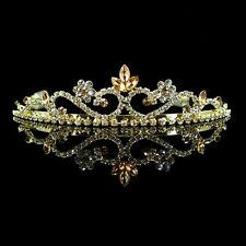 3cm hoch Golden Hochzeit Braut Haarschmuck Haarreif Kommunion Krone Diadem Tiara