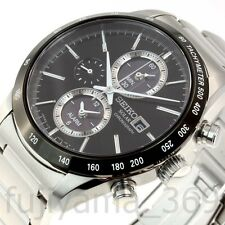 NEW SEIKO SPIRIT SBPY119 Solar Chronograph Watch Made in JAPAN Express shipping