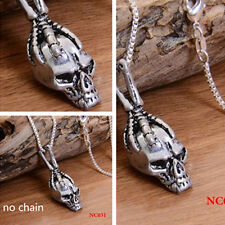 Men's Punk Skull Charms Silver Pendant For Chain Necklace Making