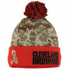 Cleveland Browns 2015 Salute to Service On Field Sport Pom Beanie New Era Knit