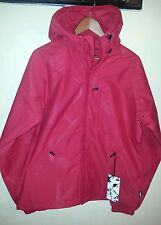 ADDICT BASE JACKET EMBOSS SHE/ FLAME RED/L/HOODED