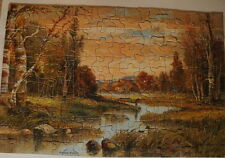 Vintage Buckingham Jig Picture Puzzle Scroll Cut Rippling Waters