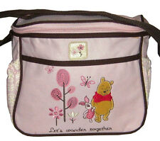 Disney Mini Diaper Bag Winnie The Pooh Pink,Blue,Brown Newborn Baby New With Tag