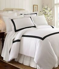Southern Living Classic Collection Black/White Full/Queen Duvet Cover Set 3pc