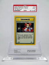 PSA 9 MINT 1st Edition Holo Rocket's Sneak Attack Pokemon Team Rocket Set #16/82