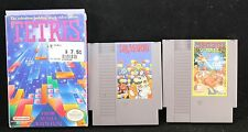 NES Nintendo Lot Dr. Mario + Tetris (in box) + Superspike Volleyball