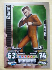 Force Attax Star Wars Serie 3 (2012, rot), Boba Fett (222),Star-Karten