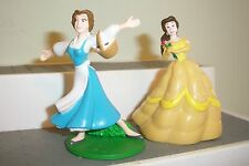 BEAUTY & THE BEAST BELLE LOT 2 PVC FIGURES YELLOW & Peasant DISNEY  PRINCESS