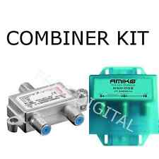 KIT - Satellite & Terrestrial Combiner / Diplexer / Splitter - INDOOR & OUTDOOR