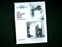White Westinghouse WWTR442 Bread Maker Machine Instruction Manual & Recipes