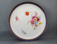 Royal WORCESTER PIATTO FLOREALE dipinti a mano da Ernest Phillips 1911