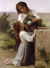 WILLIAM ADOLPHE BOUGUEREAU AT FOUNTAIN OLD MASTER ART PAINTING PRINT 3109OMA