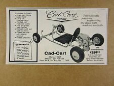 1959 Cad-Cart GO-KART photo vintage print Ad