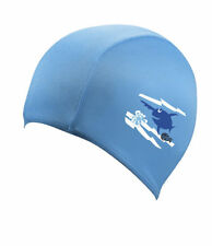 Childs Boys Girls Childrens Kids Swimming Hat Swim Cap Blue Beco