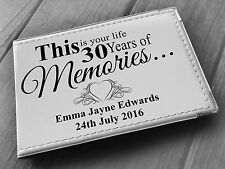 "Personalised guestbook photo album 36 x 6x4"" my 30th year memory book, birthday"
