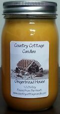 16 oz Hand Poured Soy Candle Gingerbread House.FREE SHIPPING