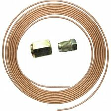 "Copper Brake Pipe 3/16"" OD 25ft 7.5m 22g Easy Flare & 10 Free unf  imperial Nuts"