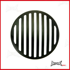 7 INCH Matte Black Prison Bar Grill Metal Headlight Cover
