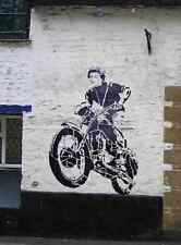 Banksy Steve Mc Queen A4 Sign Aluminium Metal