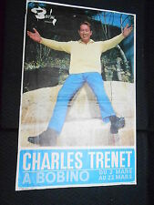 CHARLES TRENET 70s DISQUES BARCLAY RARE AFFICHE FRENCH POSTER ORIGINAL