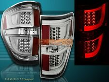 2009-2014 Ford F150 XL/XLT/STX/FX4 Chrome Housing Clear Lens LED Tail Lights V2