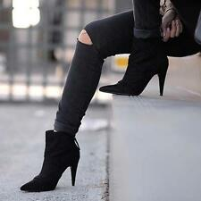ZARA BLACK HIGH HEEL ROCKER ANKLE BOOTS SIZE 7