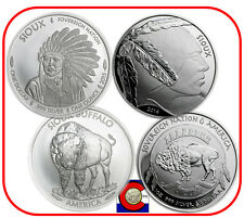 2015 & 2016 Sioux Indian Buffalo $1 Silver 1 oz Coins -- Native American Mint