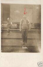 20513/ Originalfoto 9x13cm, Ein Türke vor Deutschem Eisenbahnwagon, ca. 1915
