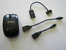 Black Wireless USB Mouse Mice for Samsung Galaxy Tab 8.9 P7300 Tablet